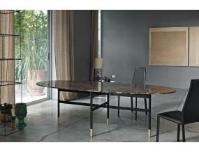 Ovalus valgomojo stalas Glamour