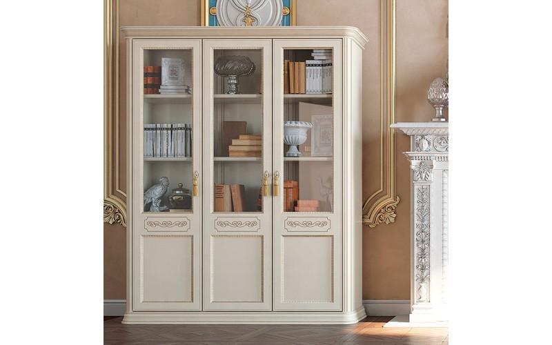 Knygų spinta Torriani Avorio ufficio 3 medinių durų