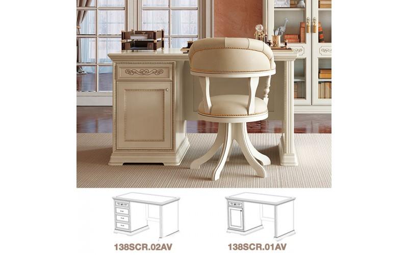 Rašomasis stalas Torriani Avorio ufficio 140 cm (su stalčiais)