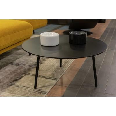 Kavos staliukas (apvalus,juodas)-ekspozicinis