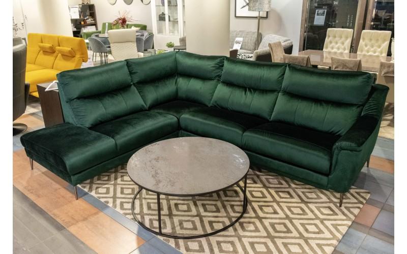 Kampinė sofa Ramiro su miegamu mechanizmu- ekspozicinė