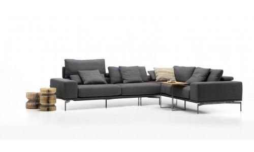 Kampinė sofa Topaz juoda
