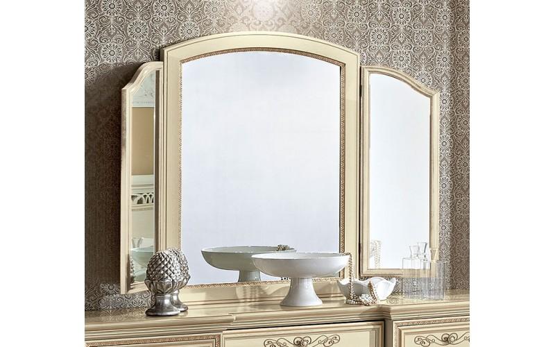 Veidrodis Torriani Avorio su dviem šoniniais veidrodžiais